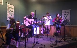 On Irish Street performing